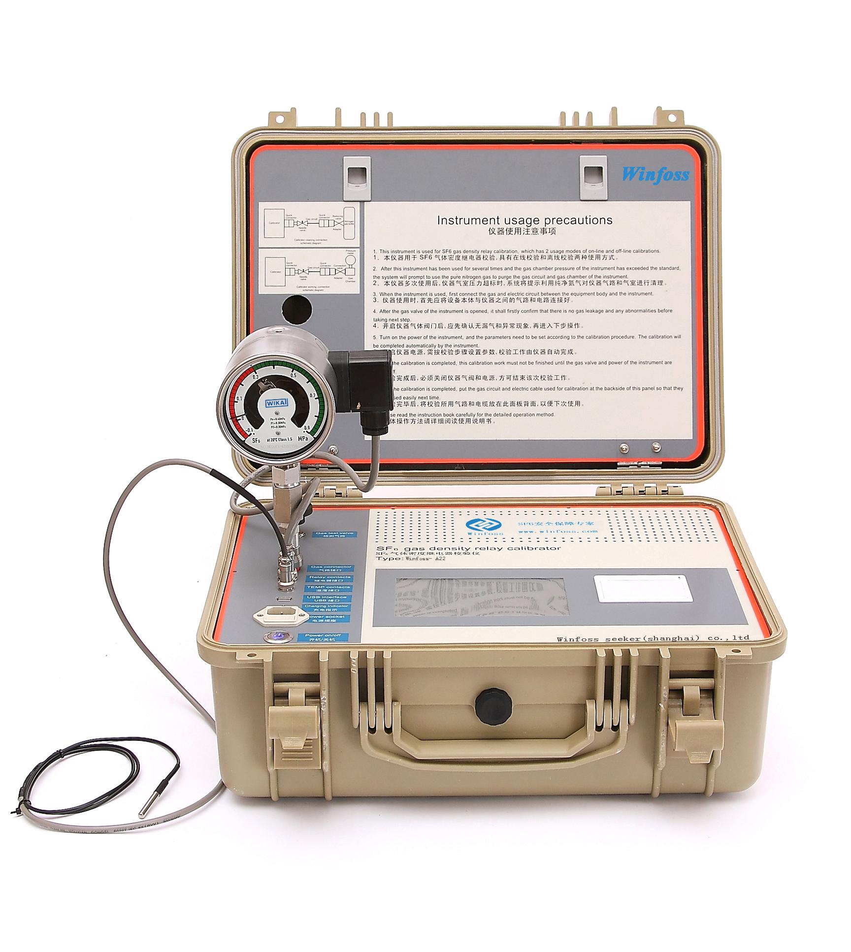 sf6气体密度继电器现场校验有关问题